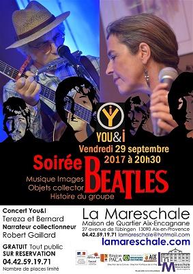 CONCERT You&I répertoire des Beatles Vendredi 29 septembre 2017 à 20h30
