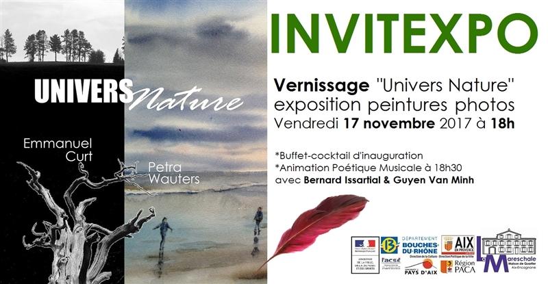 INVITEXPO UNIVERS NATURE peintures photos Vendredi 17 novembre 2017 à 18h
