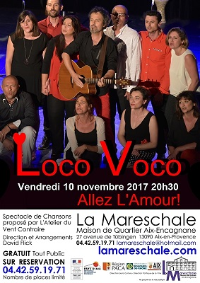 CONCERT Groupe Vocal Loco Voco vendredi 10 novembre 2017 20h30