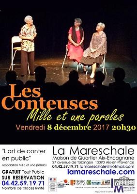 SPECTACLE DE CONTES Mille et une Paroles vendredi 8 décembre 2017 20h30