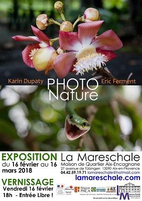 EXPOSITION PHOTONATURE du 16 février au 16 mars 2018 Eric Ferment et Karin Dupaty
