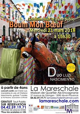 SPECTACLE JEUNE PUBLIC Boum mon boeuf Mercredi 21 mars 2018 à 15h30