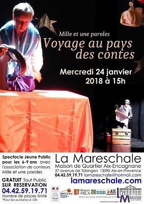 SPECTACLE JEUNE PUBLIC Les Conteuses Mille et une paroles Mercredi 24 janvier 2018 15h