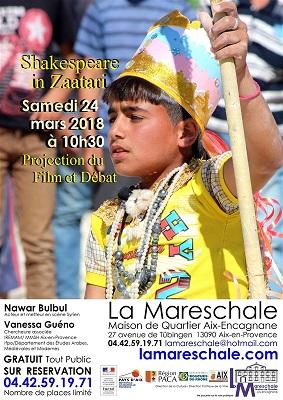 PROJECTION DEBAT «Shakespeare in Zaatari» Samedi 24 mars 2018 à 10h30