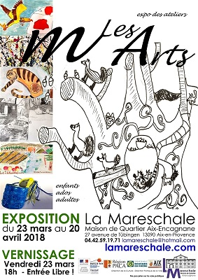 EXPOSITION DES ATELIERS ARTS VISUELS du 23 mars au 20 avril 2018 mlesarts