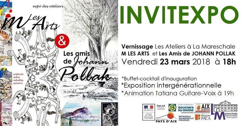 INVITEXPO LES ATELIERS ARTS VISUELS Vernissage Vendredi 23 mars 2018 à 18h
