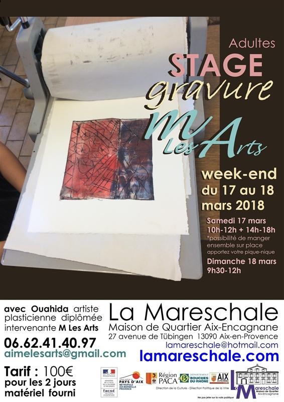 M LES ARTS Stage Gravure Adultes 2018