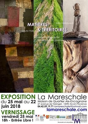 EXPOSITION MATIÈRES & TERRITOIRES du 25 mai au 22 juin 2018