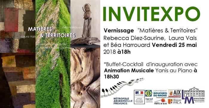INVITEXPO MATIÈRES & TERRITOIRES Vernissage Vendredi 25 mai 2018 à18h