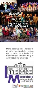 AU CHOEUR DES CHORALES INVITATION Samedi 9 juin 2018 à 18h30