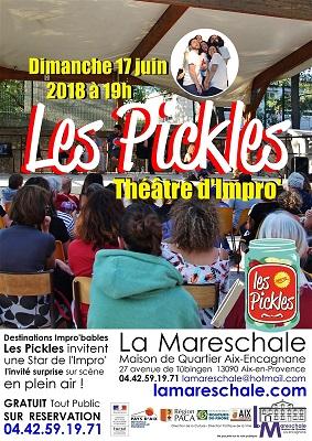 THEATRE D'IMPRO Les Pickles en plein air Dimanche 17 juin 2018 à 19h