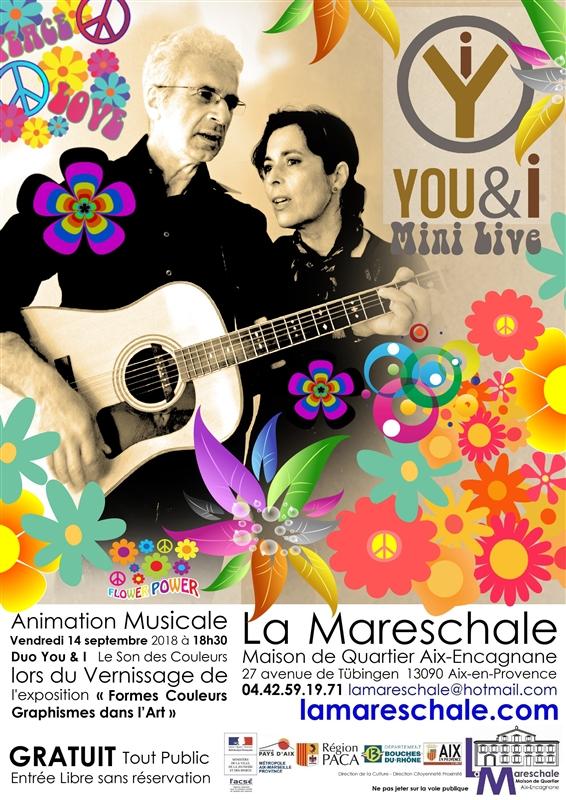 ANIMATION MUSICALE You & I du vernissage Formes Couleurs Graphismes dans l'Art Vendredi 14 septembre 2018 à 18h30
