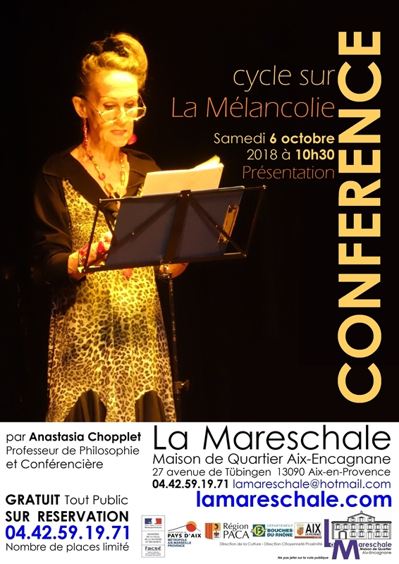 CONFERENCE Samedi 6 octobre 2018 à 10h30 par Anastasia Chopplet